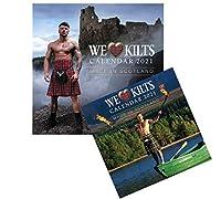 2021 We Love Men in Kilts 大 そして プランナー カラム 小さい 壁カレンダー ギフトセット
