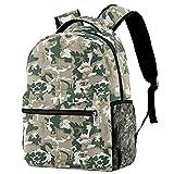 Mochila escolar para niñas y niños, ideal para portátiles de 14 pulgadas (camuflaje), Patrón de camuflaje de soldado militar,