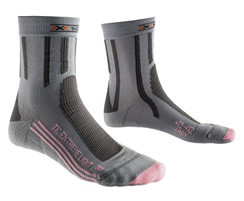 X-SOCKS Trek Extrem Light - Chaussettes de randonnée femme - Gris/Rose - 35/36 EU