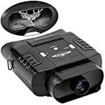 Hike Crew Night Vision Monocular, Infrared Digital Binocular Scope for Hunting, 400m Viewing Distance, LCD Screen, 2X Magnification, 7 Levels of Brightness, Carry Case Included (Binocular)