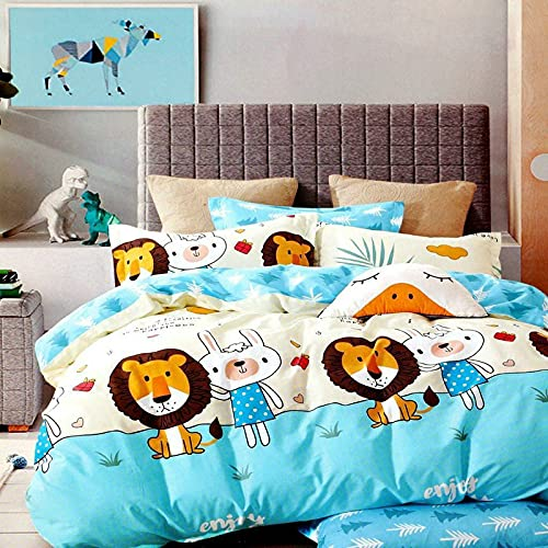 PRIDHI Super Cotton Double Bedsheet with Two Pillow Cover for Home, Bedroom, Kids Bedsheet (90 x 90 Inch, Multi 6)