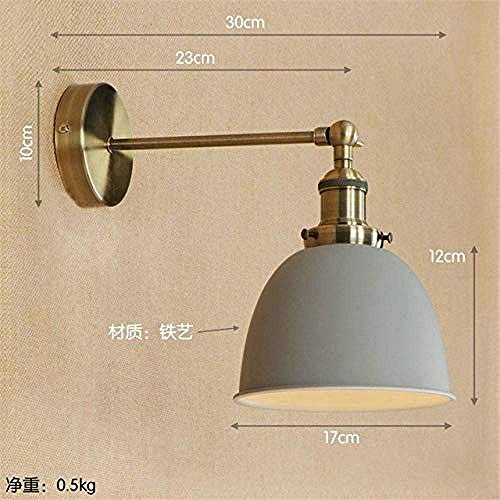 MEIXIAN wandlamp binnen messing zwart retro LED wandlampen wandlamp E27 4W Edison Loft industrie vintage arm 6 eenvoudige retro