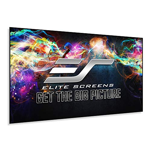 Elite Screens Edge Free Ambient Light Rejecting Fixed Frame Projection Projector Screen,Aeon CineGrey 3D Series, 120-inch 16:9 for Home Theater,...