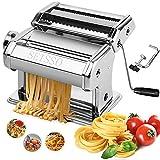 SEISSO Machine à Pâtes Laminoir à Pâtes En Acier Inoxydable Pour Tagliatelle/Spaghettis/Lasagnes/Ravioles Essentiels...