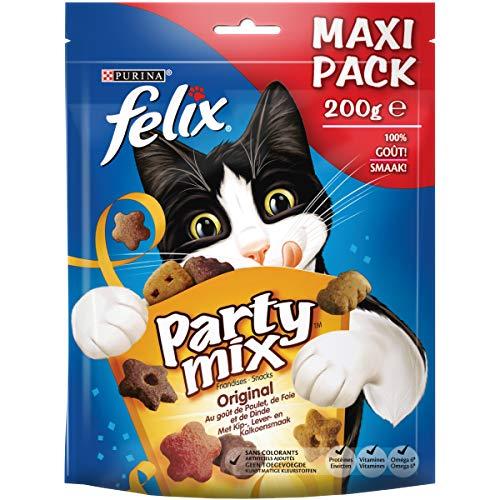 Felix Party Mix Original : Poulet, Foie, Dinde - 200 g...