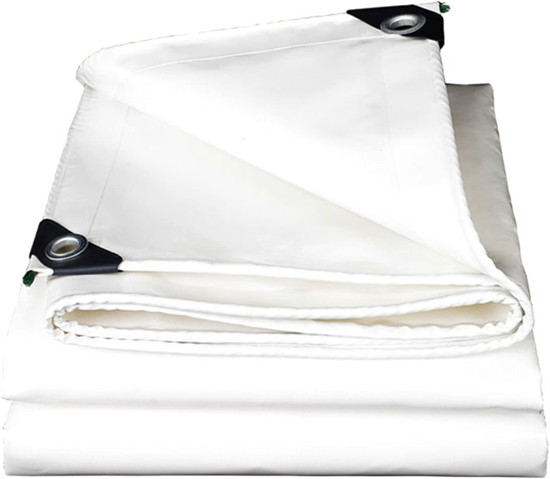GLJ Thick White Knife Scraping Cloth Outdoor Sun Predection Rain Cloth Waterproof Tarpaulin Tarpaulin Insulation Oxford Canvas Sunshade Canopy Tarpaulin (color   White, Size   1.5x2m)