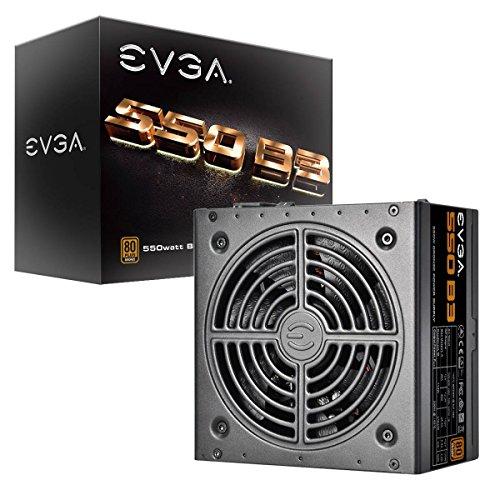 EVGA 550 B3, 80+ BRONZE 550W, Fully Modular, EVGA ECO Modo, 5 anni Garanzia, Compatto 150mm Misura, Alimentazione PC 220-B3-0550-V2
