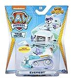OTTO Pat Patrouille vehicule en Metal : Chien Everest et Son Chasse-Neige 7 cm - Voiture Miniature Mighty Pups Super Paws - Chien