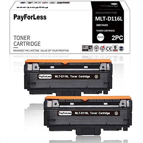 PayForLess MLT-D116L D116L Toner MLT-D116S D116S for Xpress SL-M2625 M2885FW M2825DW M2875FW M2835 M2625D M2875FD 2626 2825 2885FW 116L