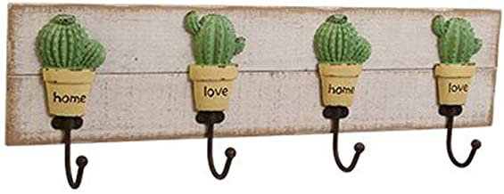 Wall Coat Rack Clothes Hat Hanger Holder Hooks Solid Wood 1/2/3 Pieces Home Style, Log Color, 61x8.9x19CM cxjff (Color : 3...