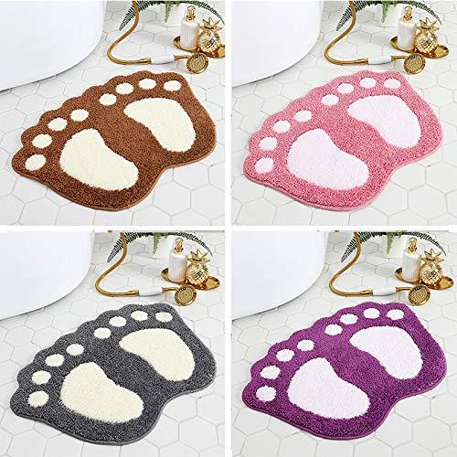 Badkamer antislipmatten Soft Velvet absorberende badkamer Non-Slip Floor Mat,Natural,L