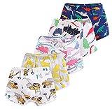 CHUNG Toddler Little Boys Underwear Soft Modal+ Cotton Boxer Briefs Pack of 5
