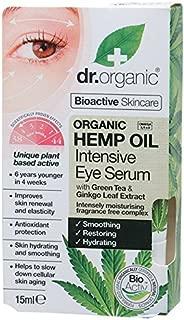 DR ORGANIC Intensive Eye Serum Organic Hemp Oil, 15 Milliliter