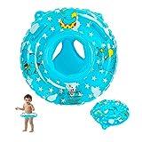 EKKONG Baby Schwimmring, Schwimmhilfe Baby, Baby Float, Schwimmring Aufblasbarer, Schwimmsitz Baby, Schwimmhilfe Spielzeug für Kleinkind 6 Monate bis 36 Monate (Elefant, Blau)