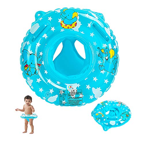 EKKONG Bambino Salvagente, Salvagente Gonfiabile, Salvagente Mutandina Bambini, Piscina Salvagente per Bambini, Anello di Nuoto per Bambini 6-36 Mesi (B)
