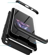 Case Huawei Nova 3i 360 Degrees protective Cover + tempered glass film, 3 in1 Full Body protection Bumper hard phone Case Ultra-thin Skin Case,for Huawei Nova 3i (Black)