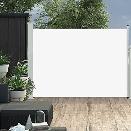 HUANGDANSP Toldo Lateral retráctil de jardín Crema 100x500 cm Casa y jardín Jardín Artículos de Exterior Sombrillas