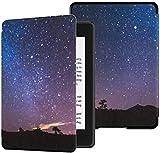 Nueva Cubierta de Tela Kindle Paperwhite Resistente al Agua (10a generación, versión 2018), Vía Láctea sobre el Volcán Teide Island Funda para Tableta