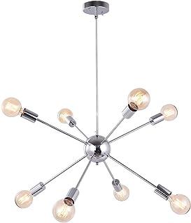 OYIPRO Moderno Iluminación colgante Sputnik Bolas Lámparas de araña con 8 Luces E27 para sala de estar Dormitorio (Sin bombilla)