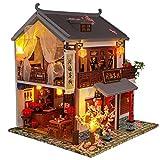 WonDerfulC - Juego de muebles de casa de muñecas en miniatura de madera 3D, para el día del padre, c...