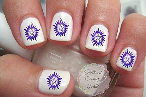 Super Natural Purple Nail Decals Nail Art Design