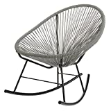 PoliVaz PV-MR-OR Mayan Hammock Acapulco Rocking Chair, Grey
