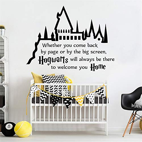 Harry Potter Hogwarts Quote Lettering Magic Castle Kids Room Movie Nursery Bedroom Decor