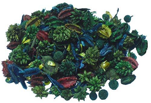 MERCAVIP Thermovip. Popurrí perfumado de Flores secas Verde. Formato Súper Ahorro 400gr.