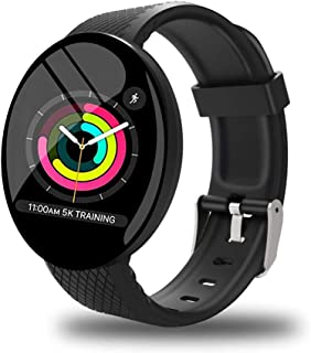 ISNATCH Smartwatch,Reloj Inteligente Impermeable IP65, Swimming Waterproof Smartwatch Fitness Tracker Fitness Watch Heart Rate Monitor Smart Watches, para Hombres Mujeres Niños Compatible iPhone Android