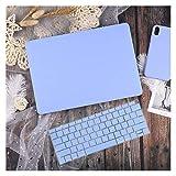 GYY Funda de Cuero/Tela para MacBook Air 13 A2338 M1 A2179 A2337 A1932 Pro 13 15 A2159 A1466 A1708 Tapa Dura + Teclado (Color : Solid Blue, Size : Model A1398)