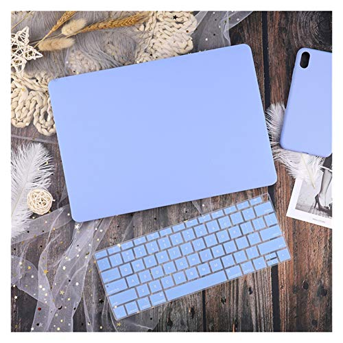 WSGYX Leather/Cloth Case for Macbook Air 13 A2338 M1 A2179 A2337 A1932 Pro 13 15 A2159 A1466 A1708 Hard Cover+Keyboard Cover (Color : Solid blue, Size : Pro 13 2019 A2159)