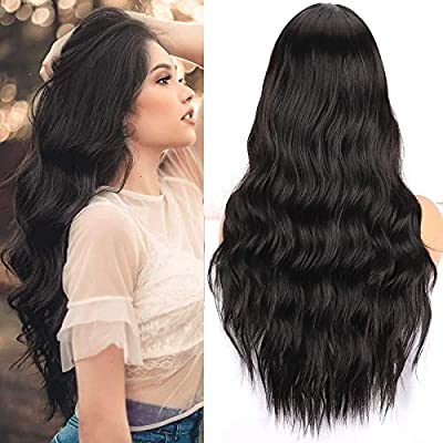 Long Wavy Wig, Silky Full Heat Resistant Synthe...