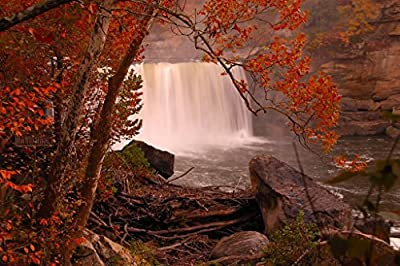 Niagara of the South Cumberland Falls Kentucky Photo Art Print Framed Poster 18x12 by ProFrames