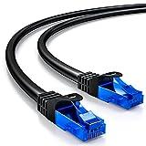 deleyCON 3m Cat.6 Ethernet Gigabit LAN Cable de Red RJ45 CAT6 Cable de Conexión U/UTP Compatible con Cat.5 Cat.5e Cat.6a Cat.7 - Negro