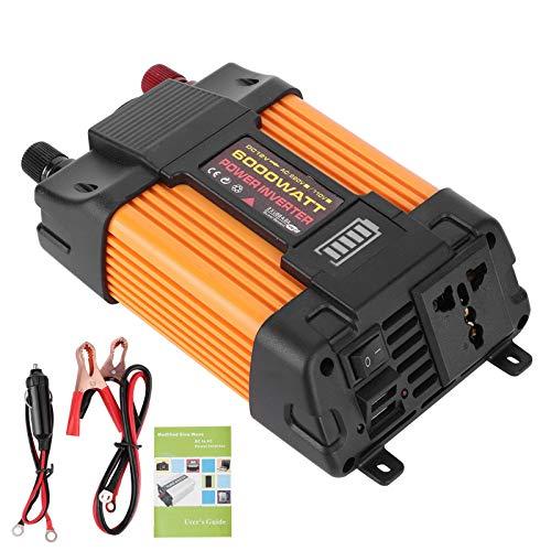 Inversor de coche, 600 W Inversor de corriente de coche Convertidor de corriente de onda sinusoidal modificada USB dual Transformador de corriente de coche (DC12V‑AC110V)