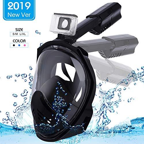 ESHOWEE Máscara Snorkel Máscara Buceo Negro_L