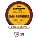 Don Francisco's Cinnamon Hazelnut Flavored (55 Pods) Single Cup Coffee Pods, Compatible with Keurig K-Cup Machines