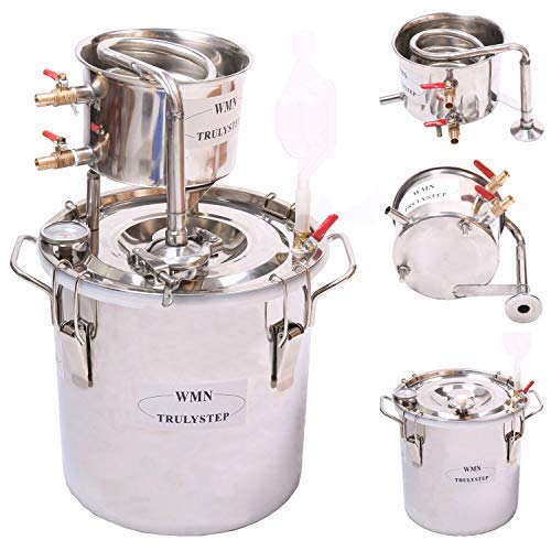 12L Kit de destilación de para el hogar destilador de acero inoxidable; para la elaboración casera de vino, alcohol, cerveza o destilación de agua