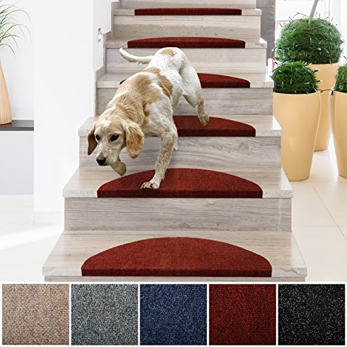 casa pura Stair Treads | Non-Slip Indoor Stair Protectors | Set of 15 Modern Step Mats for Hard...