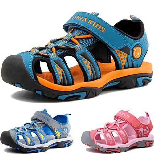 Sandalen Jungen Mädchen Geschlossene Sportliche Sandalette Kinder Atmungsaktiv Strandschuhe Outdoor Trekkingsandalen