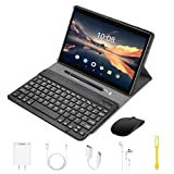 4G Tablet 10 Pollici con WIFI Offerte Android 9.0 Quad Core 4GB RAM 64GB ROM/Fino a 128GB 8000mAh WIFI Tablet 8Pcs DUODUOGO P6 Fotocamera 8MP 1920*1200 Dual SIM Bluetooth GPS OTG (P6 - Nero)