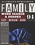 Family Word Search and Sudoku Puzzles Large Print: 100 games Activity Book cichid fish | WordSearch | Sudoku - Easy - Medium and Hard for Beginner to ... | Made in USA Vol.94 (Family activity book)