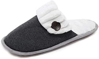 MOFEEDOUKA Women Cozy Fuzzy Knitted Memory Foam Slip On House Slippers Indoor