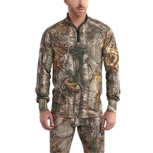 Carhartt Men's 102224 Base Force Extremes Cold Weather Camo Quarter Zi - X-Large - Realtree Xtra