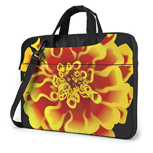 Laptop Tote Bag, Marigolds Flower Protective Laptop Travel Bag with Handle Fits 13-15.6in Laptop 13 in