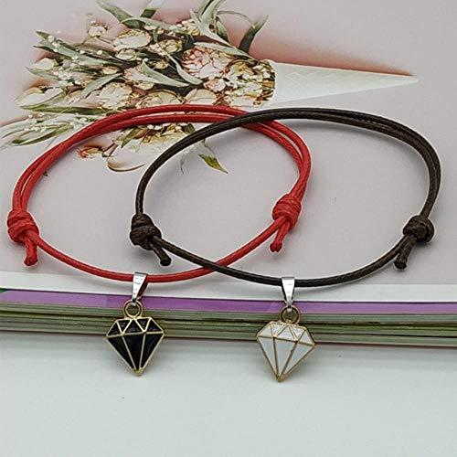 ASIG Armband Stitching Hart Armbanden Vrouwen Leuke Kat Hanger Romantische Valentijnsdag cadeau voor liefhebbers, diamant