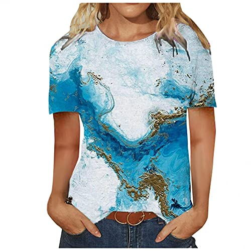 Plus Size Tops for Women,Womens Summer T Shirts Short Sleeve Tunic Strappy Cold Shoulder Tops