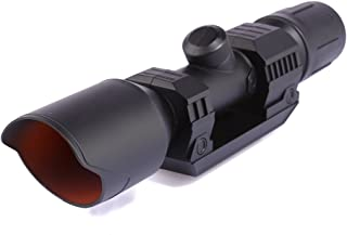 SYLHLW Rifle Scope for Nerf Gun Toy, Plastic Riflescope Attachment with Reticle Accessory for Nerf Modify (Black)