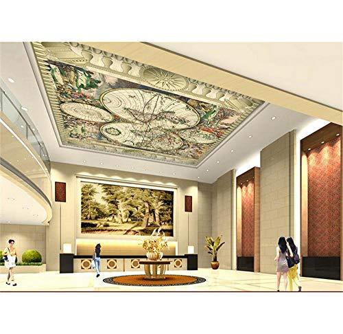 Rureng Papier Peint Photo Mural En 3Dplan Européen Du Monde Antique, Plafond Global, Canapé, Literie, Salon Ktv, Salon Pour Enfants-280X200Cm