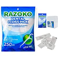 Púas dentales para hilo dental 250 unidades limpias/saludables con estuche de viaje portátil paquete individual y palillos dentales, perfecto para la familia, hotel, viajes